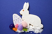 Easter biscuits (Easter Bunny, Easter egg), sugar & jelly beans