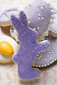 Assorted Easter biscuits and sugar egg