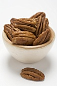 Pecans in small bowl