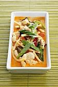 Red Thai turkey curry