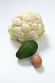 Cauliflower, avocado and egg
