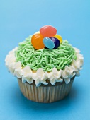 Cupcake with jelly beans