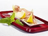 Parma ham with honeydew melon