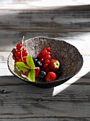 A bowl of fresh berries