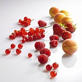 Red berries and apricots