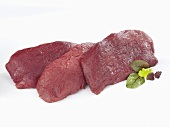 Raw ostrich meat