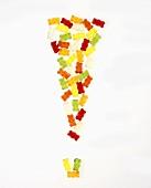 Ausrufezeichen aus Gummibärchen