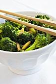 Broccoli with slivered almonds