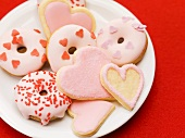 Doughnuts and biscuits for Valentine's Day