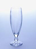 Empty sparkling wine glass