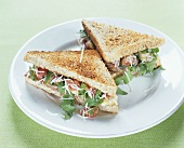 Fig, rocket & Parmesan sandwiches made with wholemeal toast