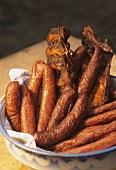 Selchwurst (smoked sausage) and smoked ribs