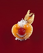 Clowngesicht aus Früchten