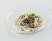 Shellfish and potato soup