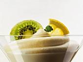 Lemon cream in dessert bowl