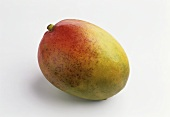 A mango against a white background