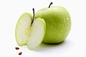 Granny Smith Äpfel (ganz, Apfelscheibe und Kerne)