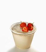 Semolina pudding with strawberries