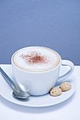 Cappuccino with amaretti