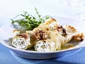 Cannelloni with fresh goat's cheese and walnuts