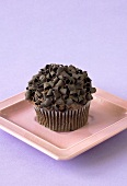 Chocolate Muffin with Chocolate Curls