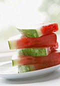 Stack of Sliced Watermelon