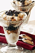 Yogurt, Blueberry and Granola Parfait