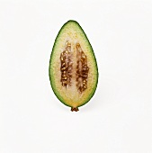 Half of a Feijoa on White Background