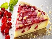 Piece of redcurrant cake