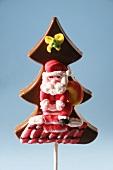 Chocolate christmas tree with Father Christmas