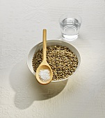 Cereal grains, salt and water (bread ingredients)