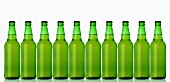 Ten green bottles standing in a row (lager)