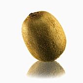 A kiwi fruit with reflection