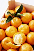 Mandarin oranges in crate
