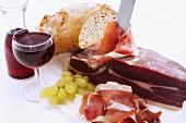 Merenda con lo speck (Snack with bacon, Italy)