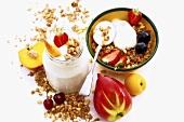 Muesli with fruit and yoghurt