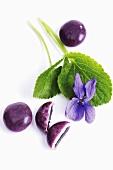 Violet pastilles