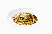 Penne with chicken and broccoli sauce