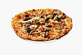 Pizza Quattro Stagioni (Pizza with olives, artichokes & ham)