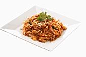 Pad Thai (Rice noodle dish with shrimps, Thailand)