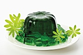 Woodruff jelly, close-up
