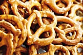 Salted pretzels, close-up
