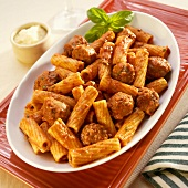 Rigatoni with Vodka Sauce and Sausage