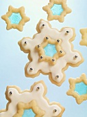 White Iced Stained Glass Cookies