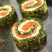 Spinach, Salmon and Herb Cream Cheese Roulade