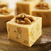 Maple Walnut Fudge on Marble Cutting Board