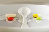 Medicines on plate