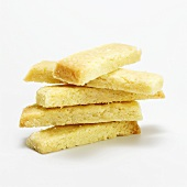 Stack of butter cookies, close-up
