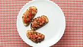 Plate of bruschetta (Stop motion)