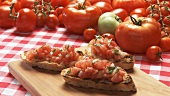 Bruschetta and fresh tomatoes